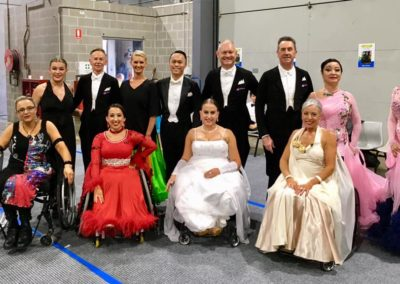 Back stage at the Australian DanceSport Championship 2018