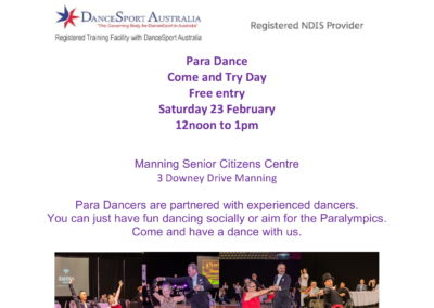 Para Dance Come and Try Day